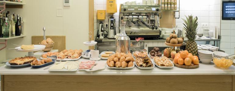 Desayuno Buffet libre hotel sauce Zaragoza