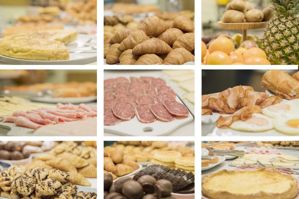 Desayunos en Zaragoza. Bufe libre. Buffet. Breakfast