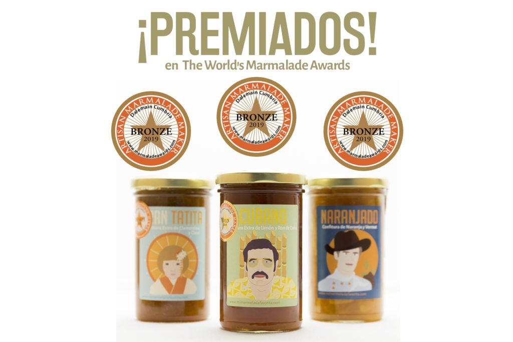 Mermeladas artesanales premiadas en el Marmalade award 2019. Mi MERMELADA favorita. Mermelada gourmet.
