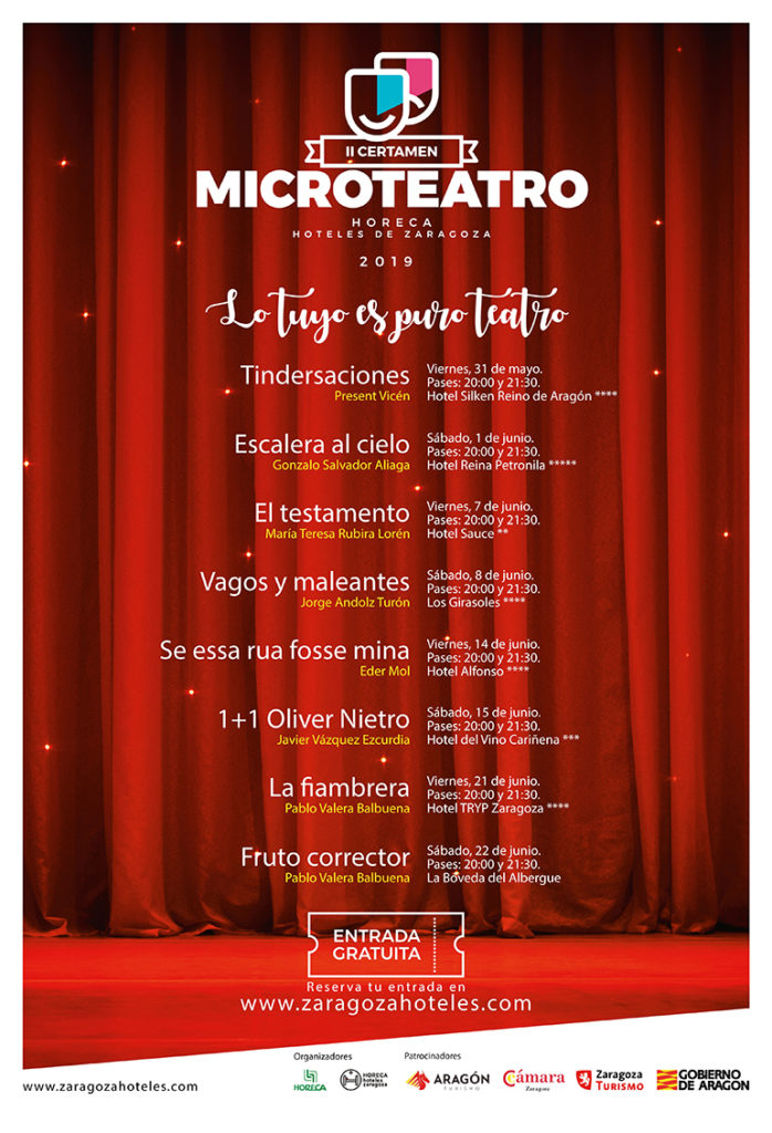 Microteatro Hoteles Zaragoza Mi HABITACIÓN favorita Hotel Sauce