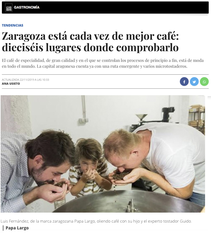 Café de Especialidad en Zaragoza Mi HABITACION favorita. Papa Largo Café