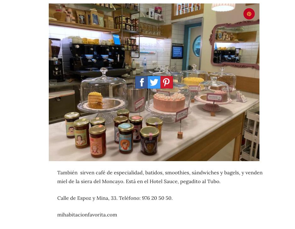Ruta gastronomica El Tubo Zaragoza Mi HABITACION favorita Cafe de especialidad, tartas y mermeladas