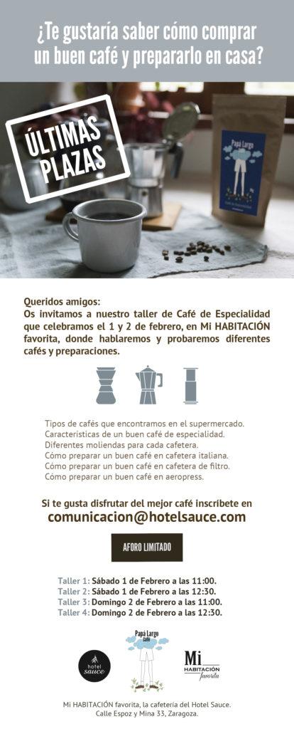 Taller Café de Especialidad Zaragoza Mi HABITACION favorita. Papá Largo.