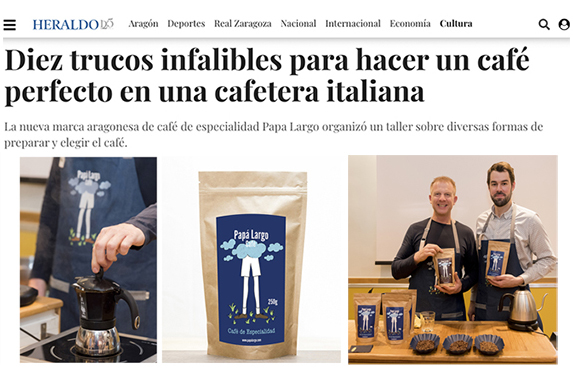 Cafe de especialidad-Zaragoza-cafetera-italiana-papa-largo