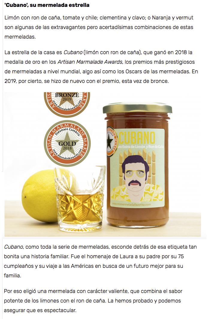 Mi MERMELADA favorita. Las mermeladas más originales del mercado. foodie gourmet Zaragoza