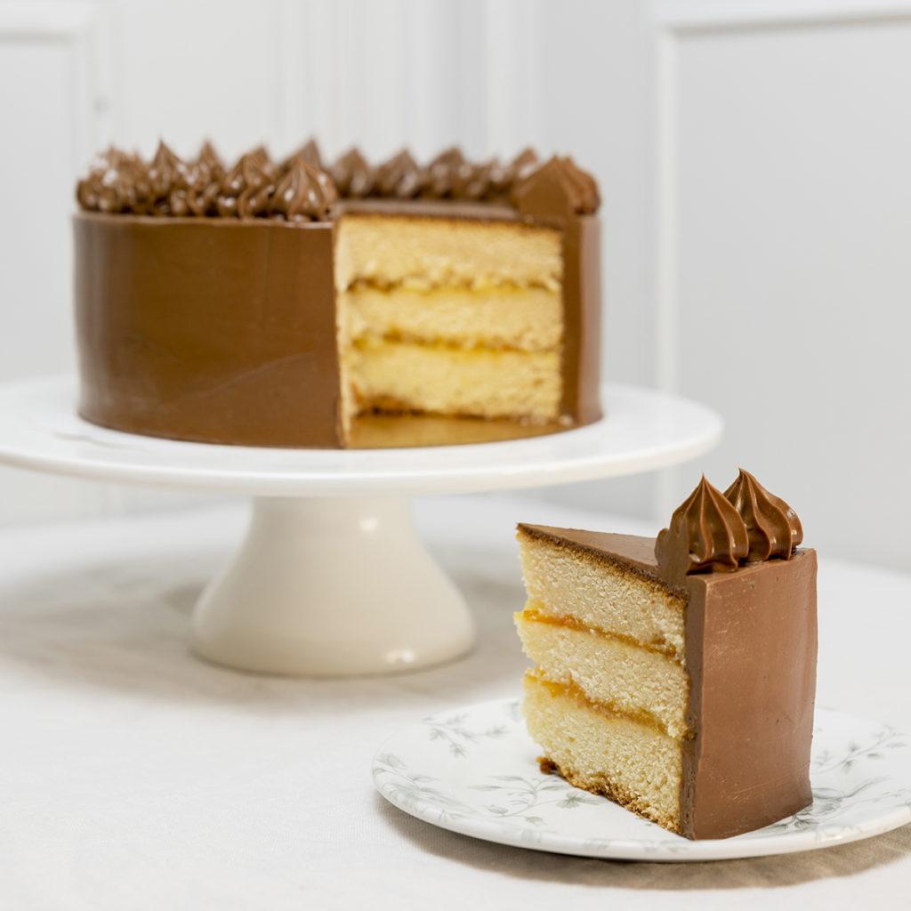 Tarta de cumpleaños chocolate y naranja