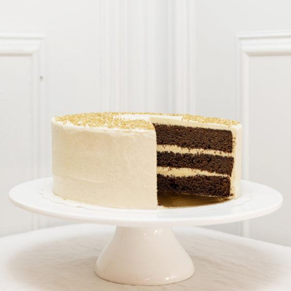 Tarta de chocolate y sésamo
