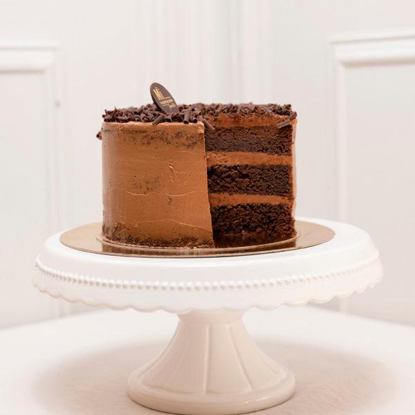Tarta cortada chocolate