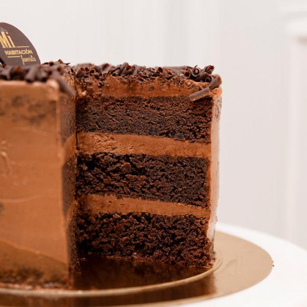 Interior tarta de chocolate