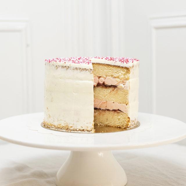 Tartas de Cumpleaños Fresa y Vainilla.