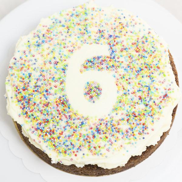Comprar Tarta de Cumpleaños sin gluten con números.