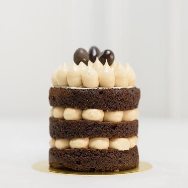 Pastel favorito chocolate y cacahuete