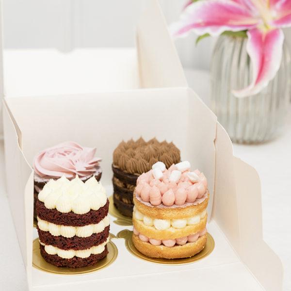 Caja de 4 pasteles favoritos