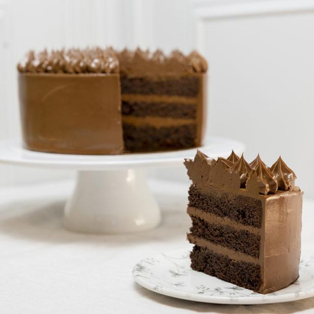 Tarta de chocolate doble cumpleaños