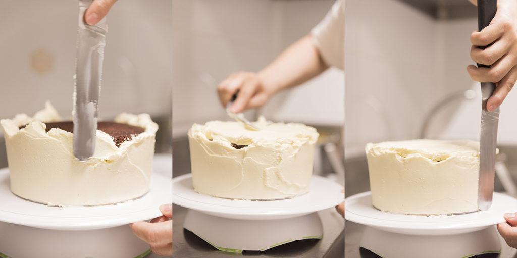 Elaboración artesanal tarta Red Velvet