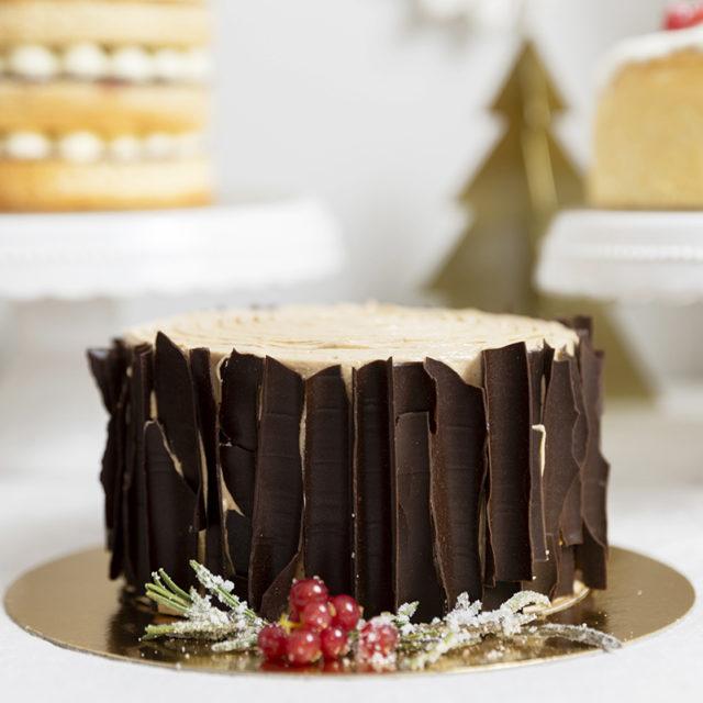 Tarta de Navidad tronco chocolate