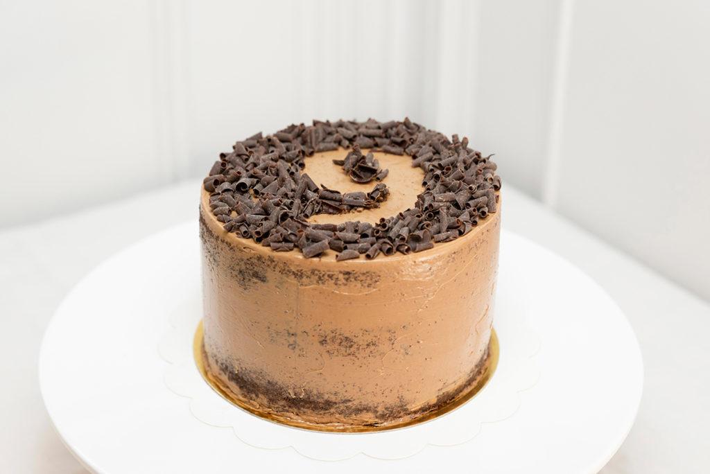 tarta de Cumpleaños chocolate con número
