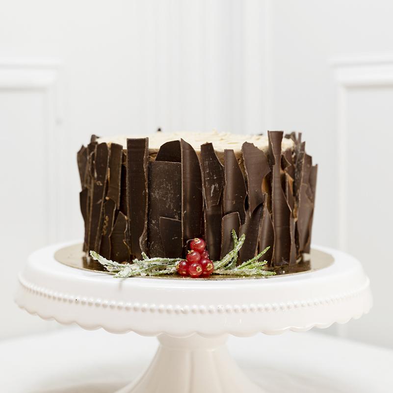 Tronco de Navidad corteza de chocolate