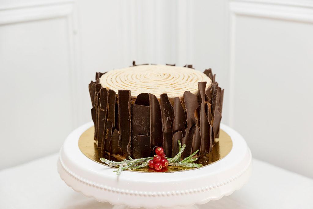 Tronco de Navidad chocolate sin gluten