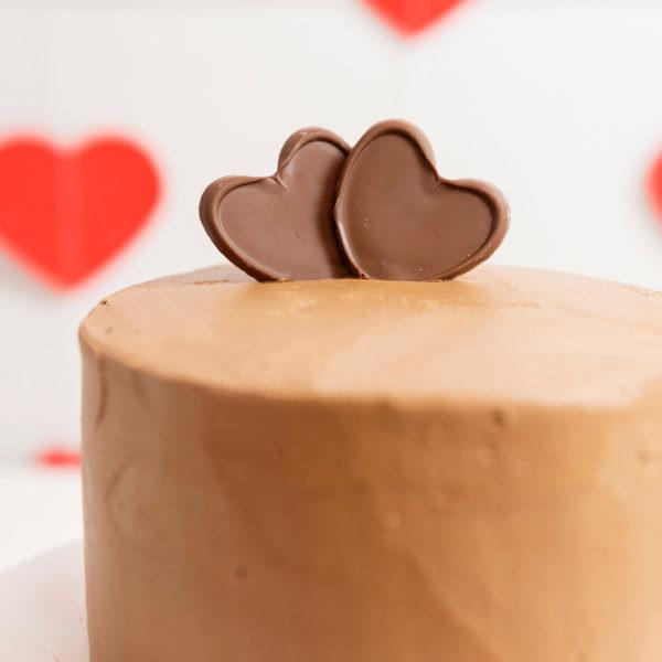 Tarta San Valentín corazones