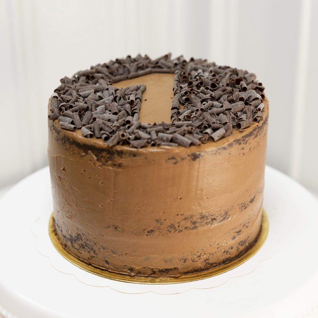 Tarta número 1 sprinkles chocolate