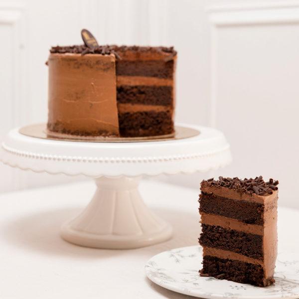 porción tarta chocolate