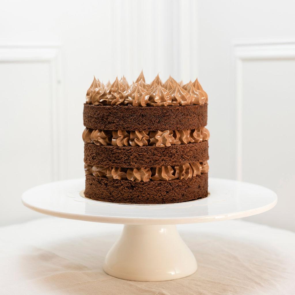 Tarta chocolate 3 capas sin gluten