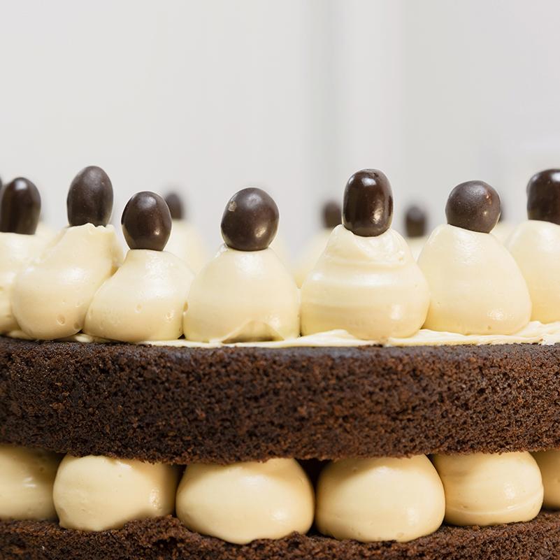Tarta de Chocolate y Cacahuete Sin Gluten