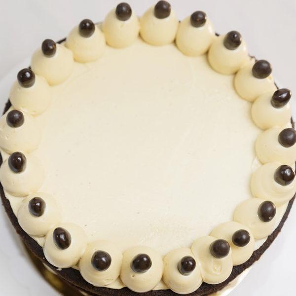Decoración Tarta de Chocolate y Cacahuete Sin Gluten