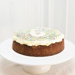 Tarta de Zanahoria Cumpleaños Sin Gluten y Sin Lactosa.
