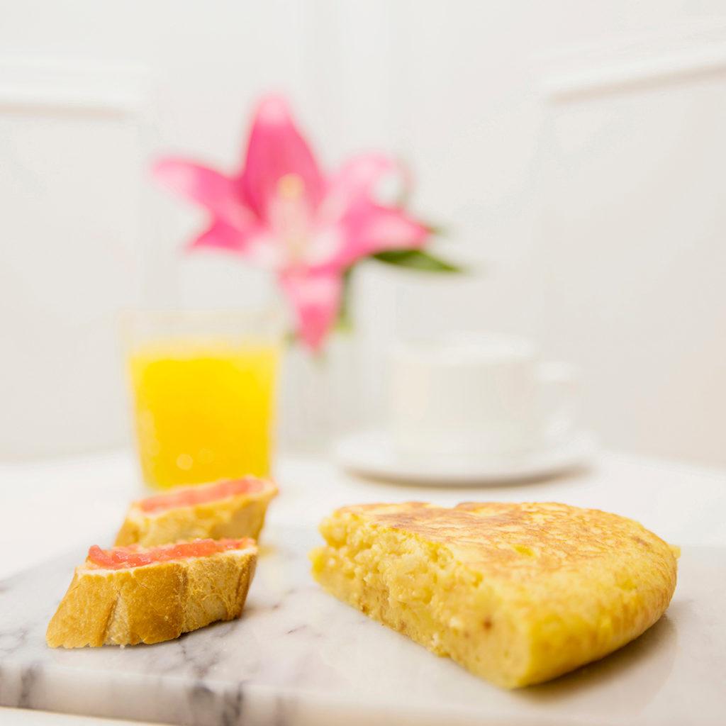 Menús de desayuno en Zaragoza Desayuno tortilla de patata