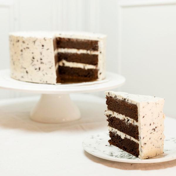 porción tarta stracciatella sin gluten