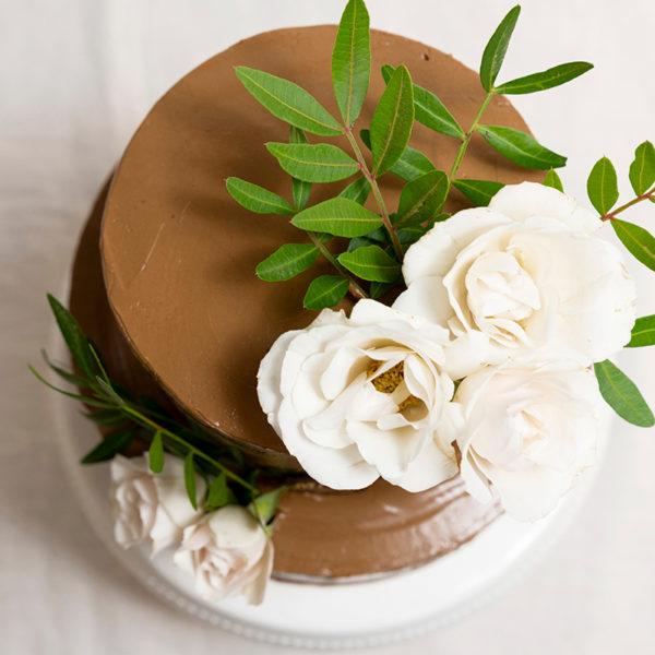 Trata de chocolate con rositas