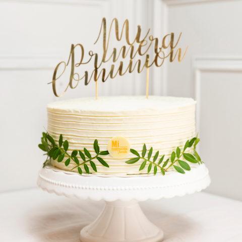 Tarta blanca de comunion
