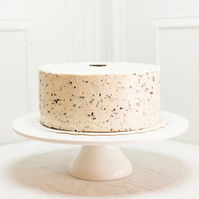 Tarta Stracciatella en pie de tarta