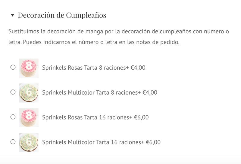 Tartas personalizadas con Sprinkles de colores. Tartas personalizadas en Zaragoza.