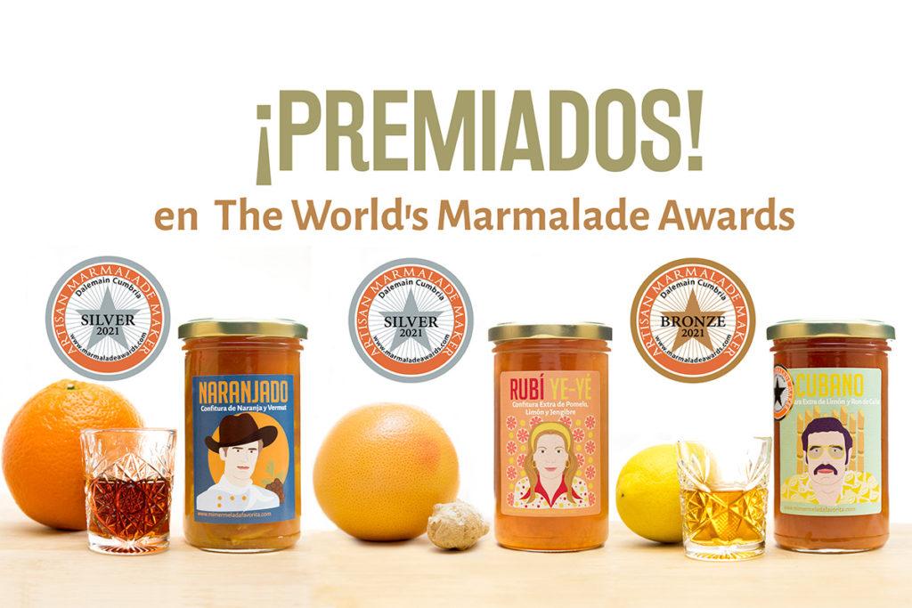 Mermeladas premiadas en los Marmalade Awards 2021