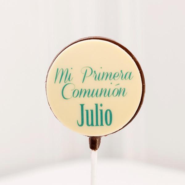 Piruletas de Chocolate mi primera comunion