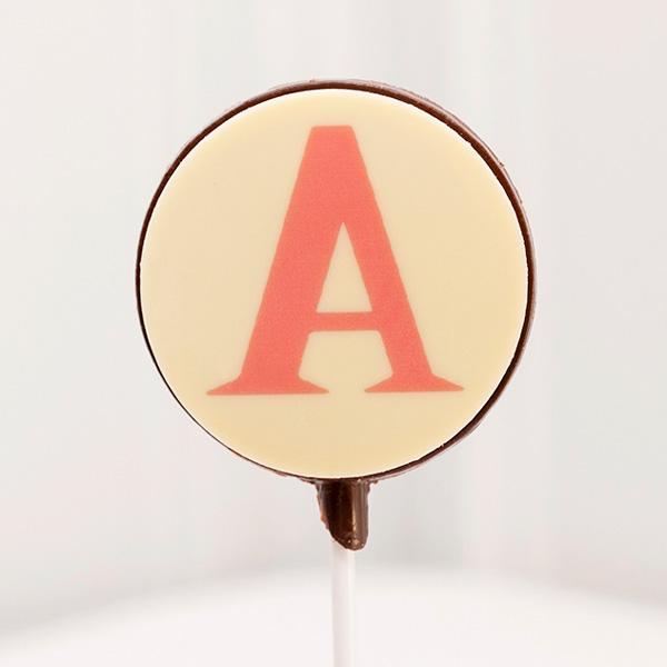Piruletas de Chocolate letra A