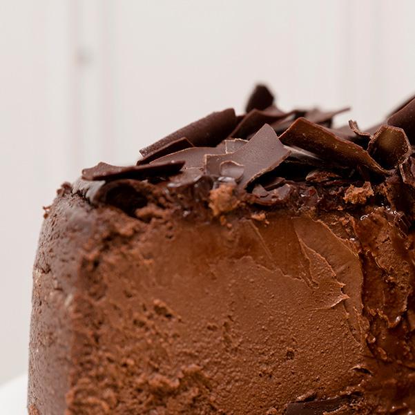 Tarta de queso de chocolate textura