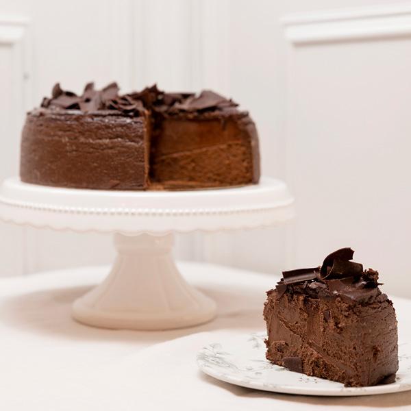 porcion tarta de queso de chocolate