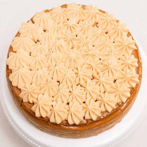 Tarta de queso y Dulce de Leche sin gluten decoración