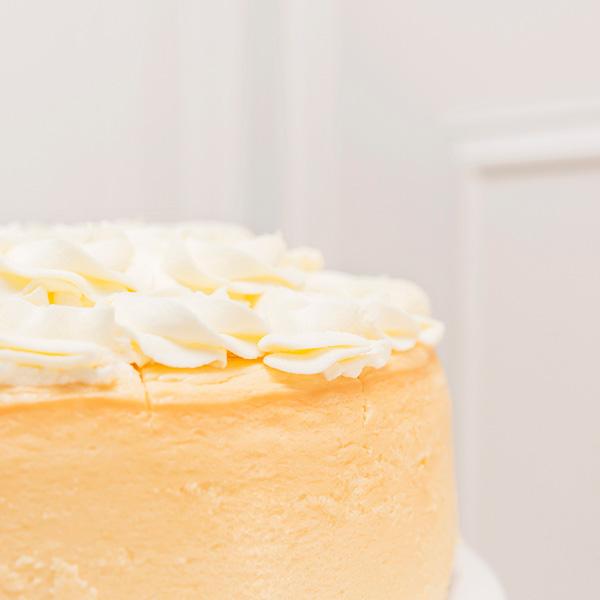Tarta de queso de Limón sin gluten detalle