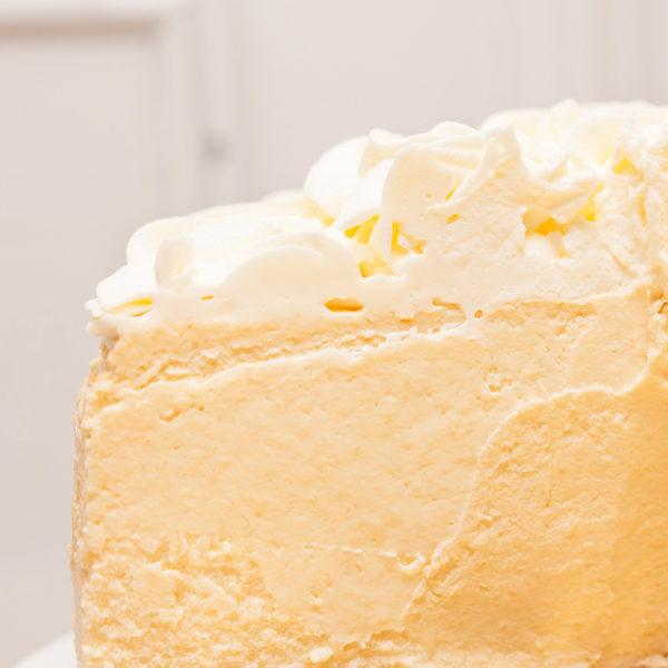 Tarta de queso de Limón sin gluten textura