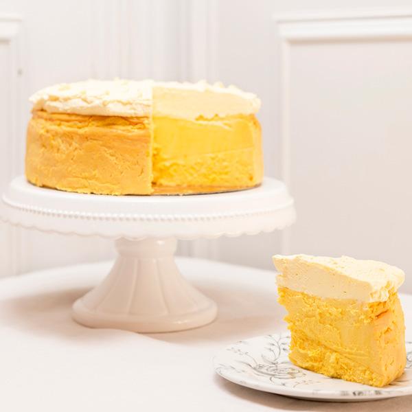 porción tarta de queso de mango