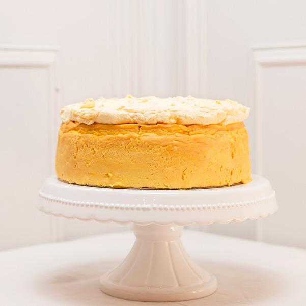 Tarta de queso de mango sin gluten