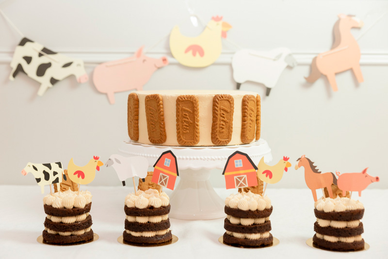 Tarta y Pasteles decoracion infantil Granja